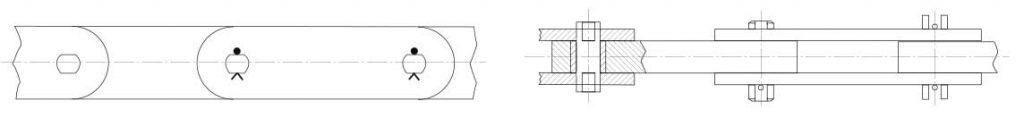 Schéma manutention chaînes à blocs