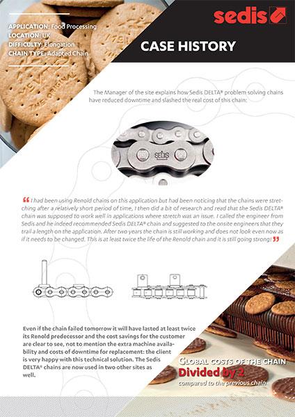 Sedis case history food industry