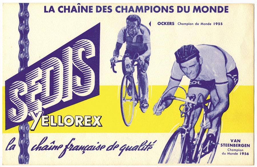SEDIS sponsor de Louison Bobet en 1955